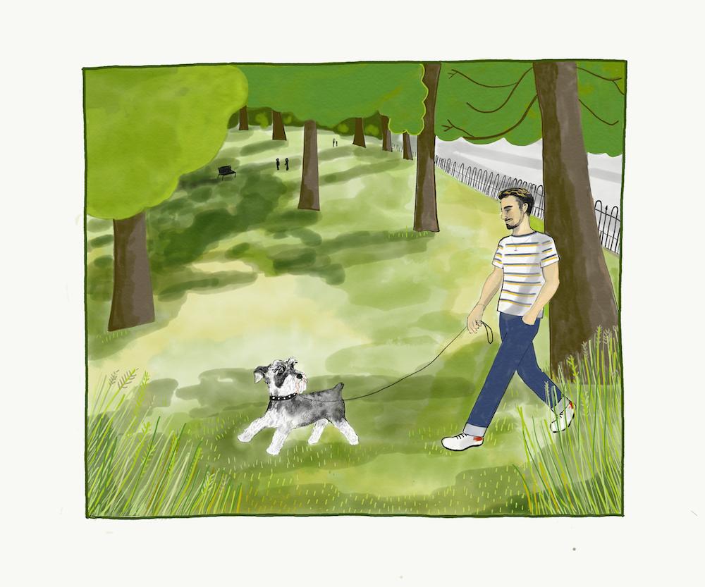 Joe and his beloved dog Spike