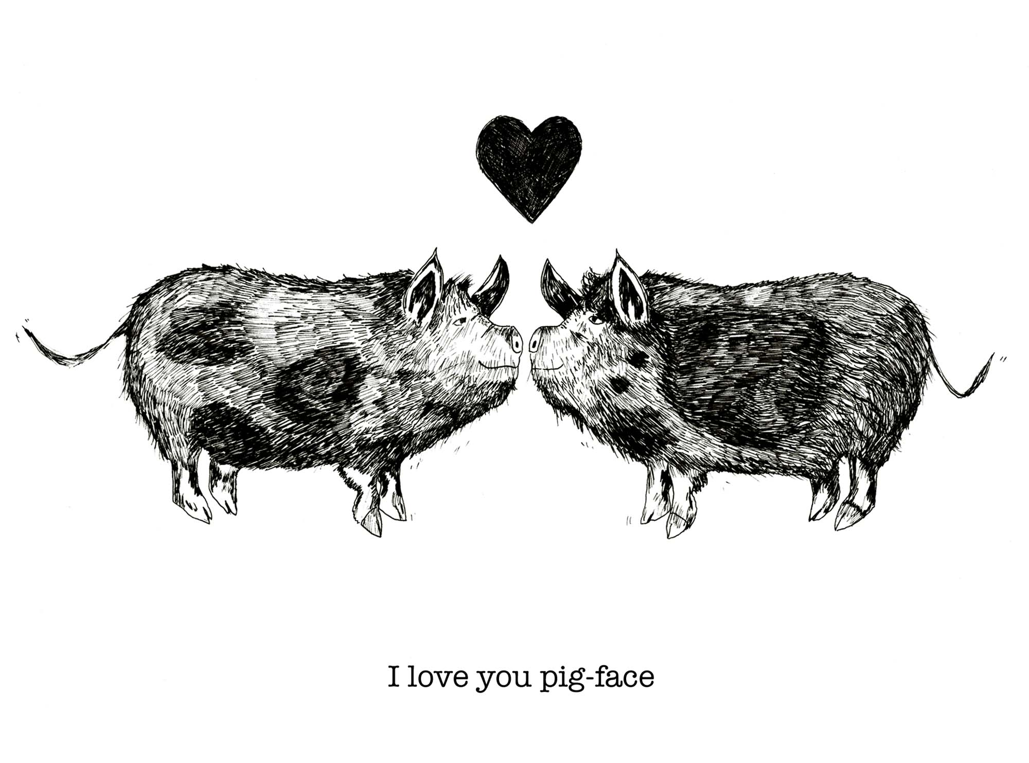 I love you pig face