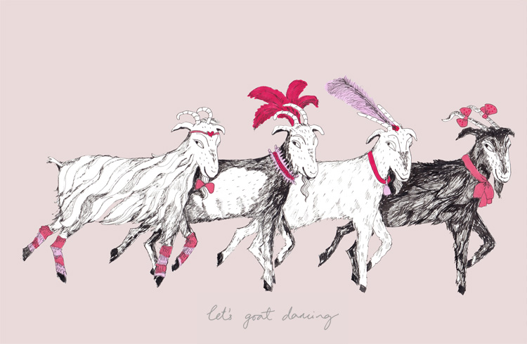 More goats, this time they're dancing...